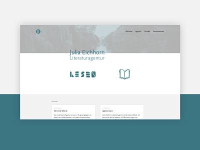 Literary Agency writing white website minimal clean webdesign