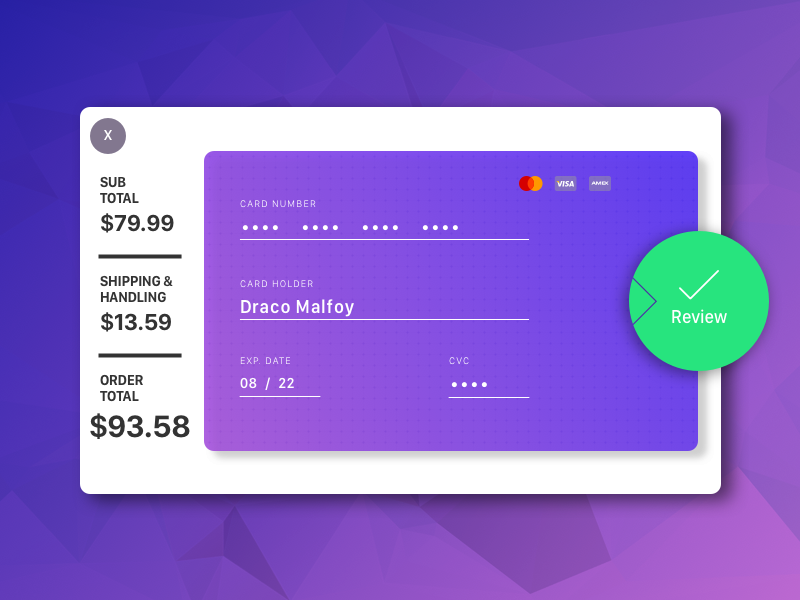 Credit Card Checkout daily ui daily design challenge user interface user experience ui checkout web