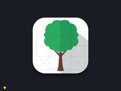Daily UI #5 - App Icon material tree icon design ui design app ux ui icon