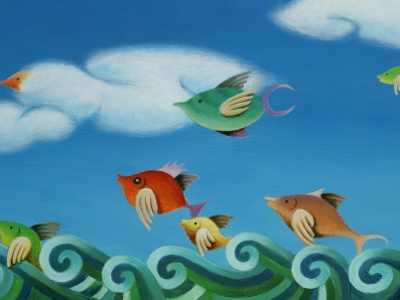 Flying Fishys painting paint artist