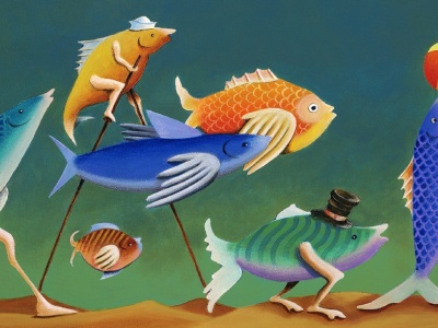 Fishy Circus Act painting paint artist