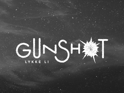 Gunshot dribbble