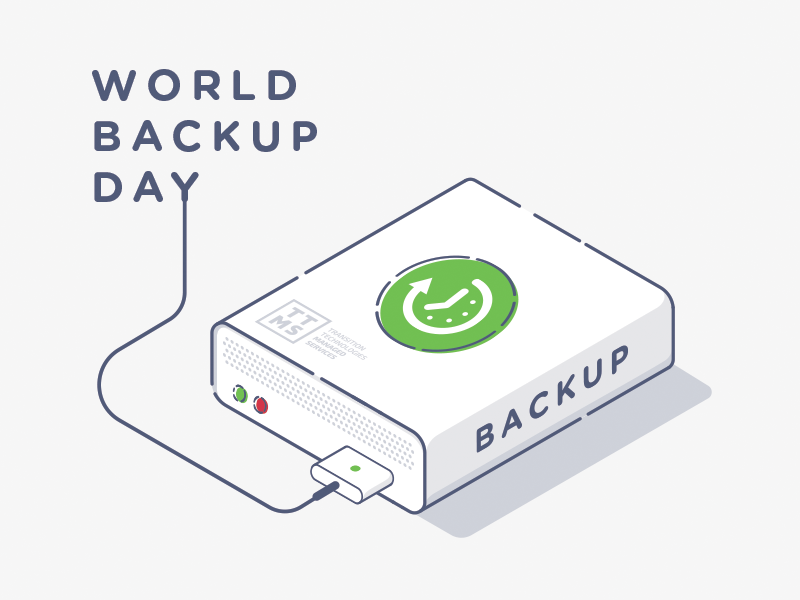World Backup Day world backup day illustrator mikepolak backup disk hd hard drive stroke line art illustration