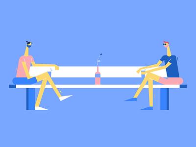 social-drinking-distancing social distance graphic design illustrator colors vector ui flat illustration