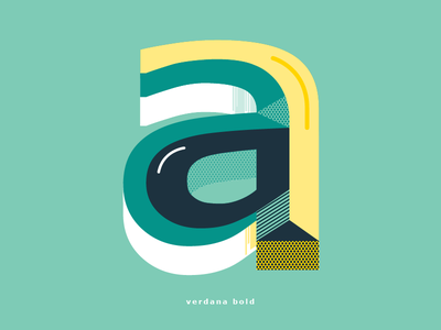 Typography project colors verdana graphic design type typography illustration vector