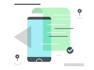 dialog illustration sketch colour on boarding app illustrator flat illustration