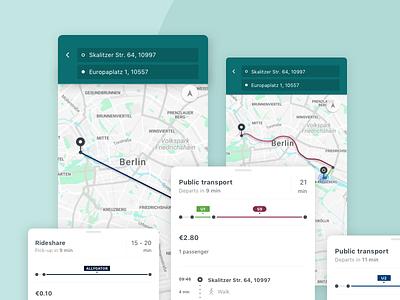rideshare + public transportation maps public transportation iphone x rideshare mobility android ios app ux ui