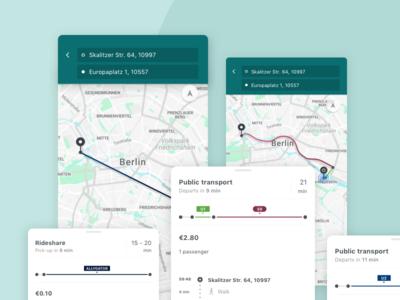rideshare + public transportation