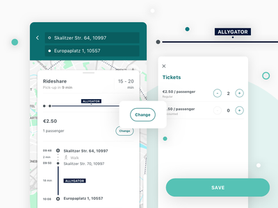 change number of passengers maps public transportation iphone x rideshare mobility android ios app ux ui