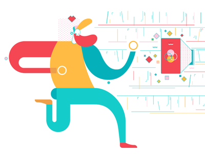 Branding affects your product app vector flat colors product illustrator illustration ui