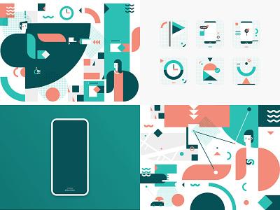 2018 illustrator flat vector ui app illustration