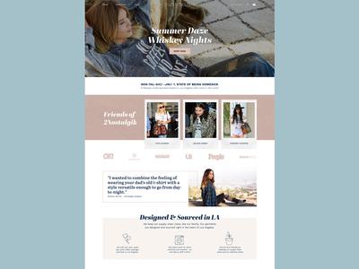 2nostalgik Home Page ecommerce pastel ui website fashion
