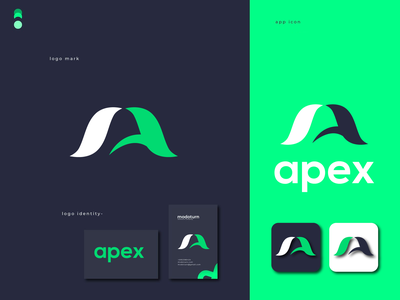 Apex modern logo minimalist logo illustration design abastact logo roof logo minimal logo logo design