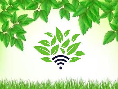 wifi leaf leaf wifi logo wifi leaf logo leaf logo wifi logo logo and brandign logo lgoo creative logo roof logo abastact logo modern logo minimal logo minimalist logo logo design