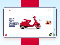 Vespa Scooter Landing Page landing layout concept scooter screen interactive design website website design mobile marketing landing page home page design ui design landing page ui web design web creative design app ux ui
