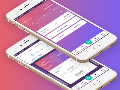 GO Flight app - home screen