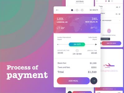 Process of Payment - GO flight app