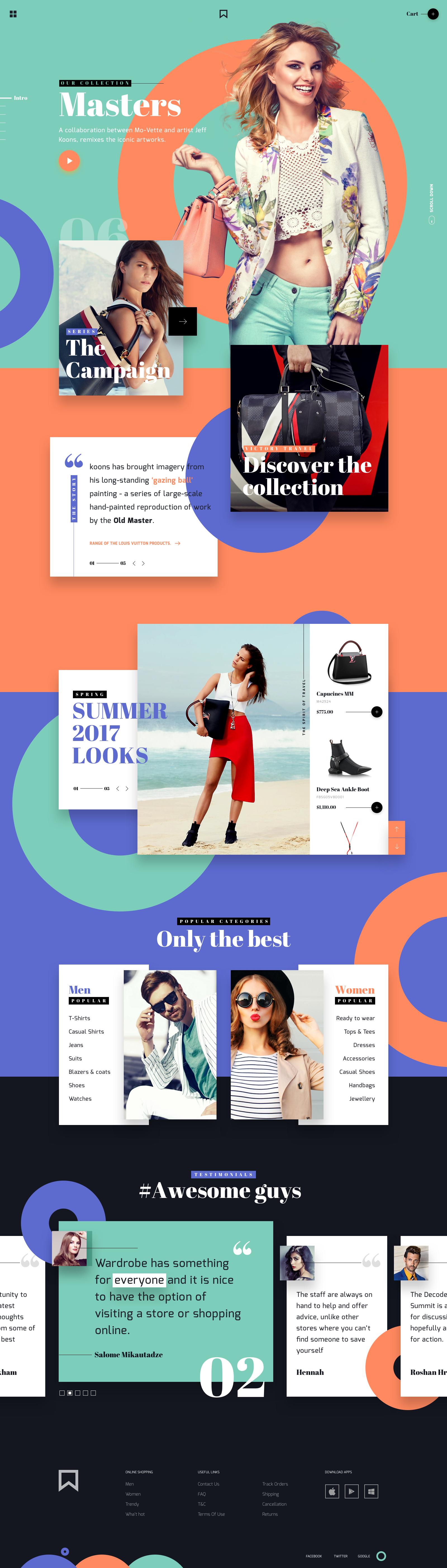Mv fashion website concept ui ux