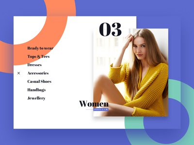 MV — Women Category material website ux ui store shop product mobile interaction fashion ecommerce app