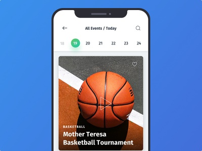 Event Screen elegant clean website motion interaction music video ios minimal material mobile ui android typography event app event ux app design