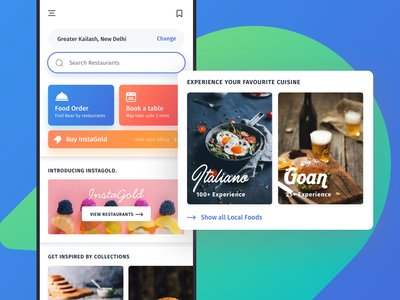 Food app free ecommerce clean material online order cafe restaurant app ux ui mobile kit ios interaction food design delivery chat blog app android