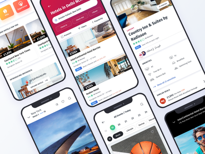 Townhouse Hotel - Ui Kit interactive design minimal gallery home screen research product free ui kit chat event offers clean app hotel ux ui mobile ios android design