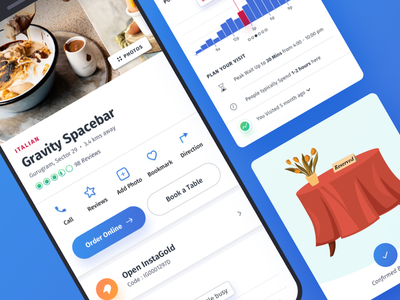 Restaurant Screen free ui kit material design suggestion compare reviews payment user experience user interface ux ui research app graphic design motion interactive redesign food app product page food restaurant app