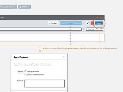 Sampling Wireframe web samahub app ui wireframe ux annotation modal process template product wireflow