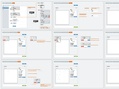 Coordinate Storyboards web samahub app ui product wireframe ux annotation settings wireflow storyboard