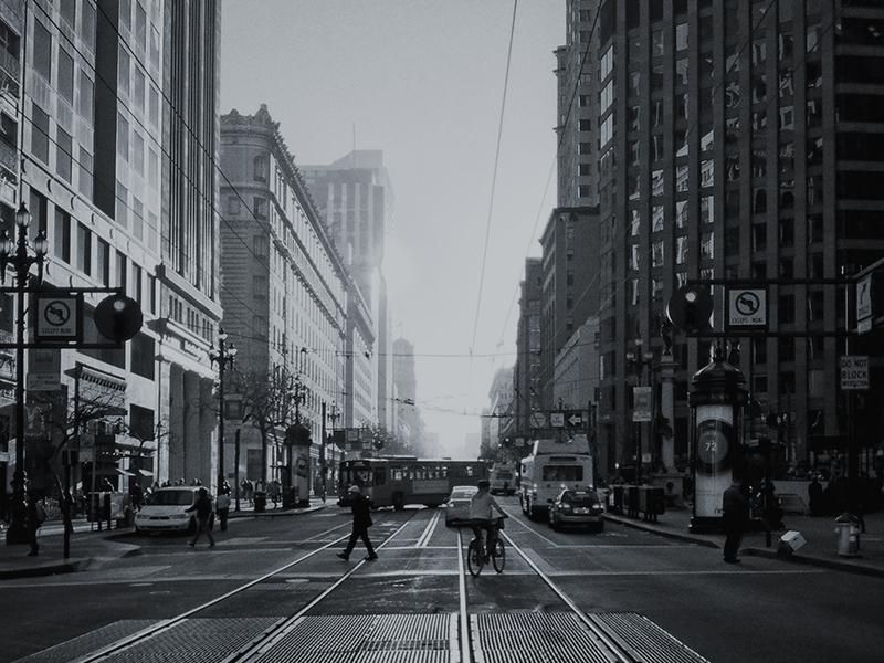 Market Street photo photography san francisco iphone black and white