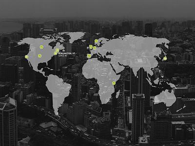 Travel map world tokyo icons photo overlay web black and white
