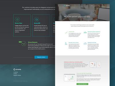 Sirono Homepage sirono marketing branding enterprise health web services