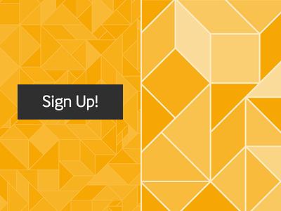 Tangrams branding spright orange cta geometric pattern