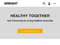 Spright mobile wireframe