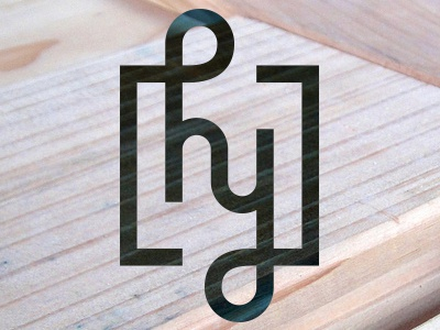 Personal Logomark monogram h y line personal branding illustration square ambigram logo logomark