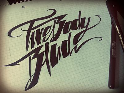 5BB Branding lettering hand lettering calligraphy custom type sketch scribble sketchbook