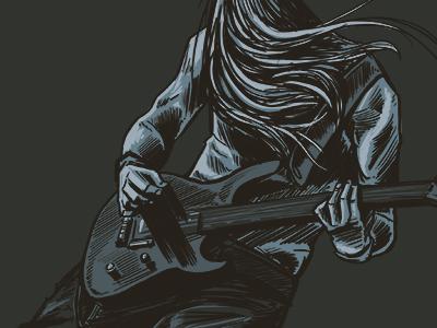 Rocking scribble rock rocknroll guitar player guitar scribble sketch digital illustration photoshop
