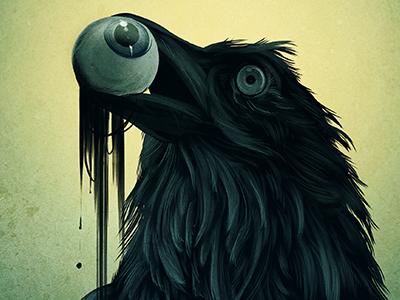 Rotting Food Chain digital illustration illustration manga studio raven eye halloween