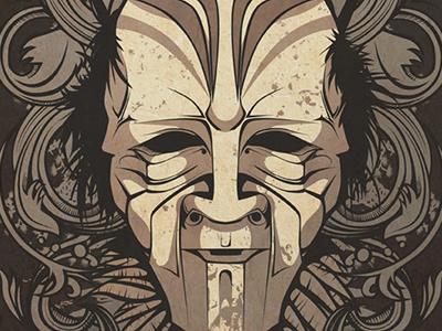 Ritual Mask illustration vector illustration