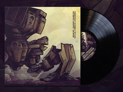 "Creator & Destroyer - 12"" vinyl sleeve artwork vinyl illustration digital illustration"