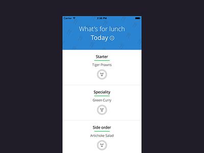 Lunchie mobile ios ux ui app