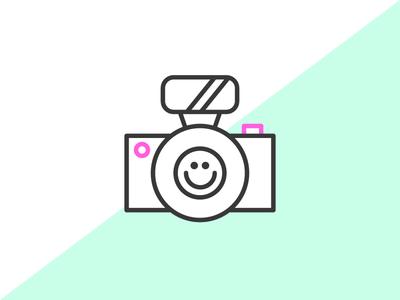 Smile selfie icon camera illustration