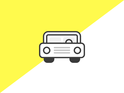 Let's Go For A Drive illustration icon car
