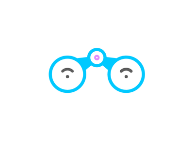 Somebody's Watching You binoculars illustration icon