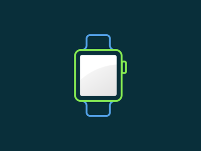 The Age of Wearables colourful smartwatch apple watch illustration icon wearable smart watch apple
