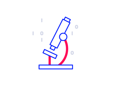 Data Insights data microscope illustration icon