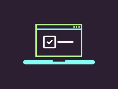Cheeky Laptop icon illustration