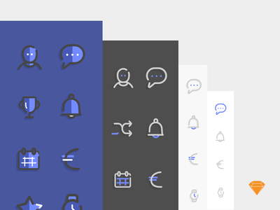 """Free Icons """"Doux"""" - Sketch 3 set icons free icons sketch 3 icons illustration colors icon freebies free sketch3"""