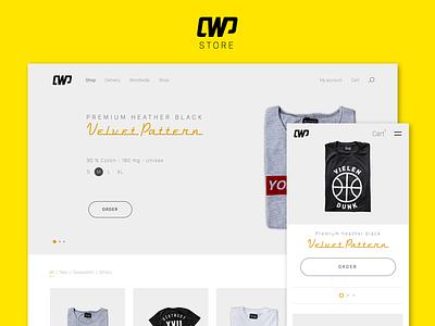 CauseWePlay responsive refonte web design sketch 3 sketch3 streetwear minimalist wordpress website e-commerce ecommerce