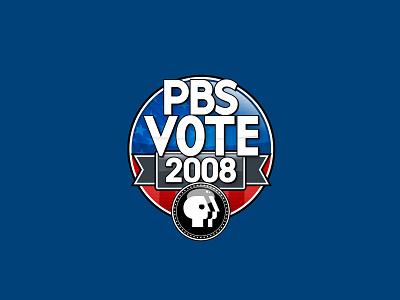 PBS Vote 08 campaign vote logo design election logo